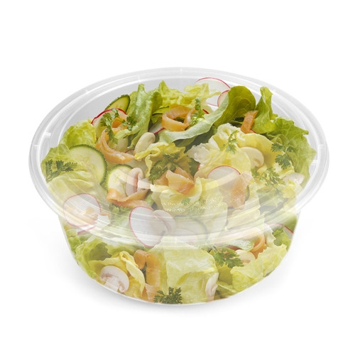 Plastic Round Disposable pp Fast Food Container