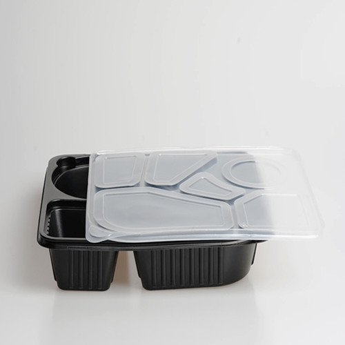 black plastic pp microwave disposable food  container