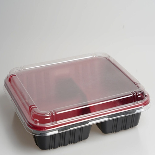 Disposable plastic takeaway food container